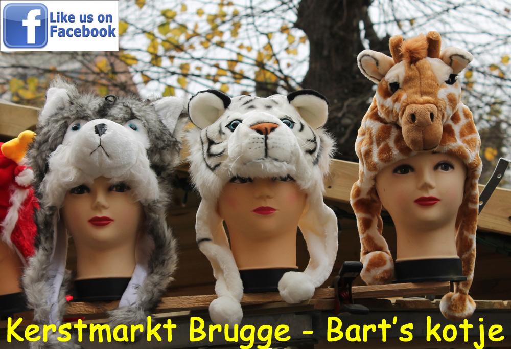 Bart's kotje op Kerstmarkt Brugge - dierenmutsen