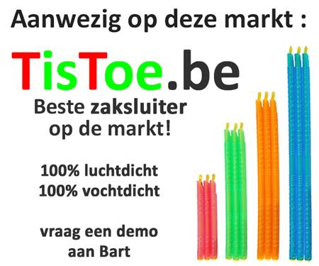 Zaksluiters TisToe op deze markt aanwezig