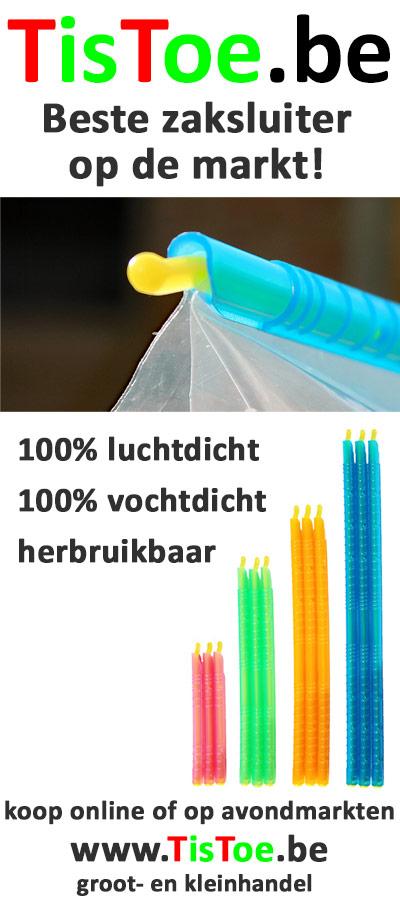 TisToe zaksluiters, verkrijgbaar op avondmarkten en online !